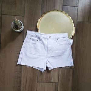 Gap high waisted lilac jean shorts 29